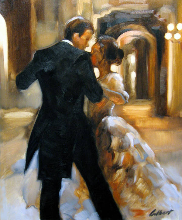 Figurative Poster featuring the painting Study For Last Dance 2 by Stuart Gilbert