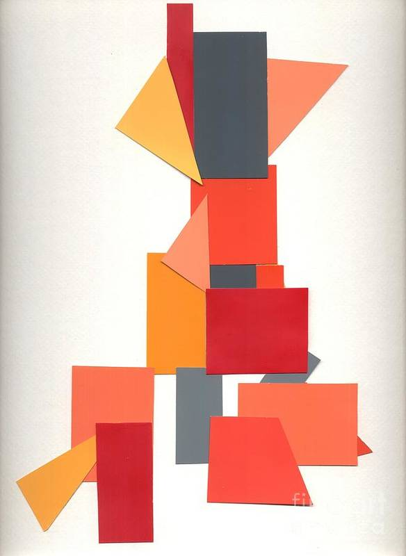 Abstract Poster featuring the mixed media Stylin' On Grey by Mary Zimmerman