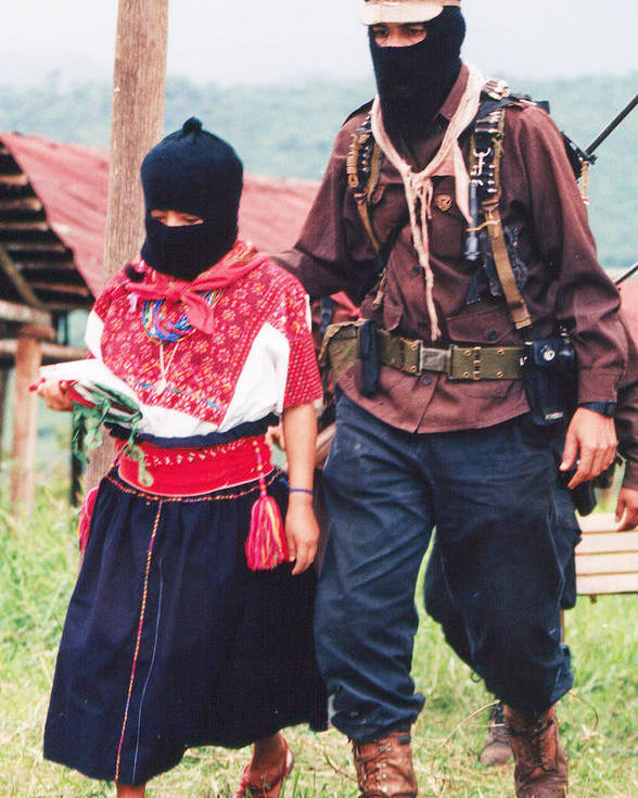 Zapatista Poster featuring the photograph Subcommandante Marcos And Ramona by Omar Shafey