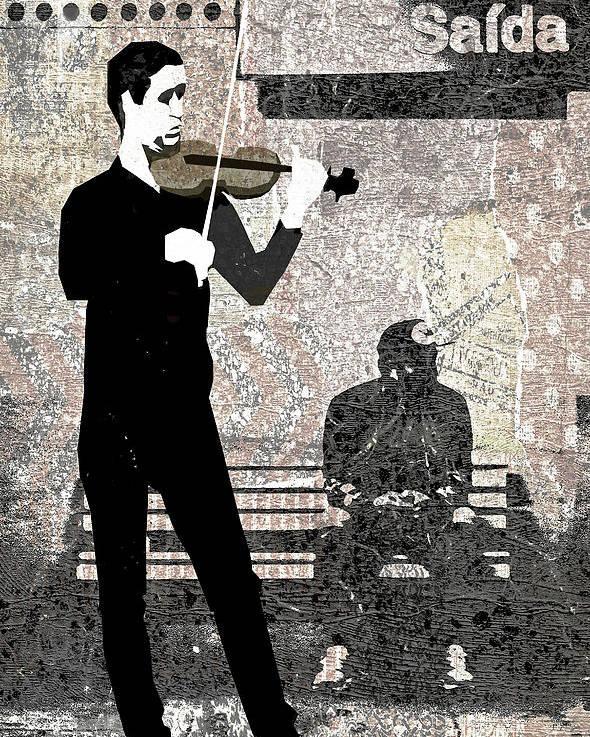 Subway Poster featuring the digital art Subway Strings by Regina Wyatt