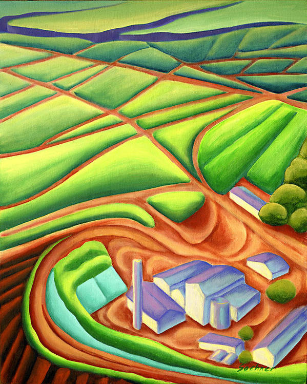 Hawaiian Landscape Poster featuring the painting Sugar Mill by Lynn Soehner