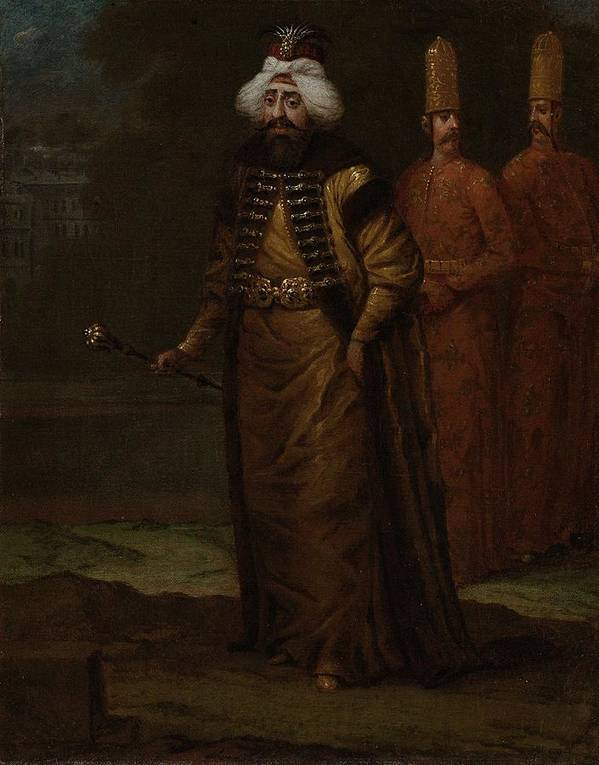 Man Poster featuring the painting Sultan Ahmed IIi, Jean Baptiste Vanmour, C. 1727 - C. 1730 by Jean Baptiste Vanmour