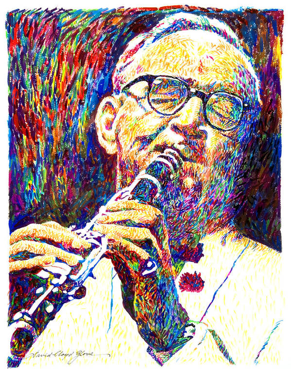 Benny Goodman Poster featuring the painting Sultan Of Swing - Benny Goodman by David Lloyd Glover