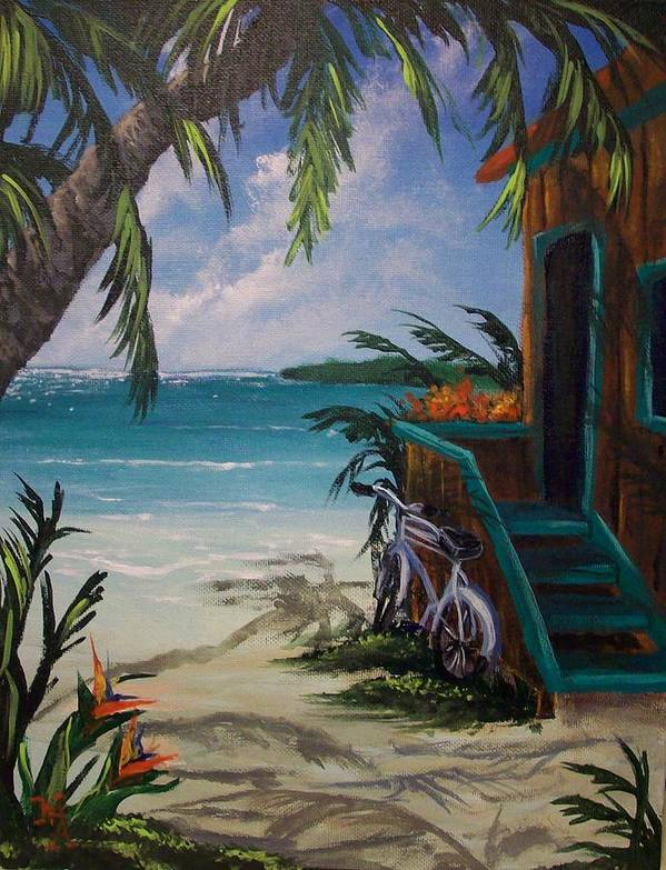 Tropical Poster featuring the painting Summer Dreaming by Marco Antonio Aguilar