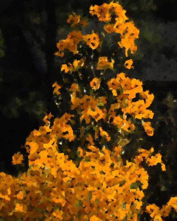 Yellow Poster featuring the photograph Summer Flowers by Ed Zirkle