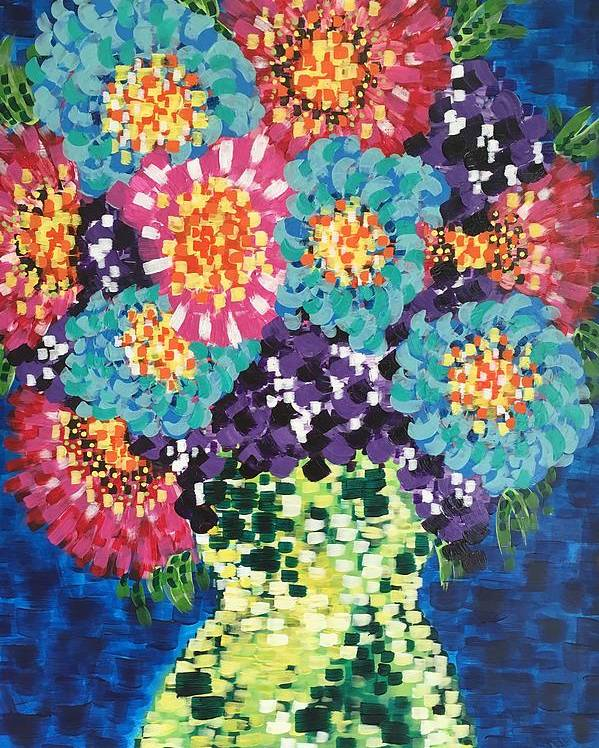 Flowers Poster featuring the painting Summer Flowers by Noel Marie