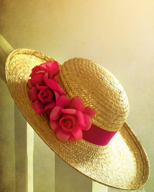 Summer Poster featuring the photograph Summer Hat by Svetlana Sewell