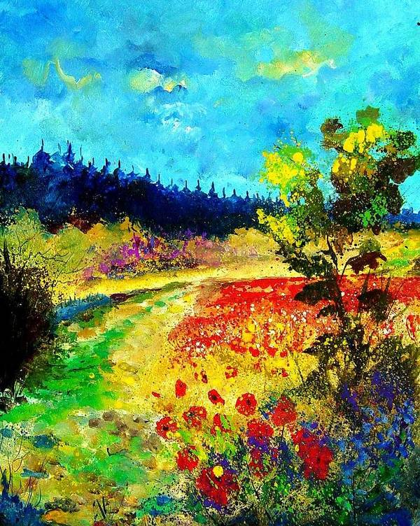 Flowers Poster featuring the painting Summer by Pol Ledent