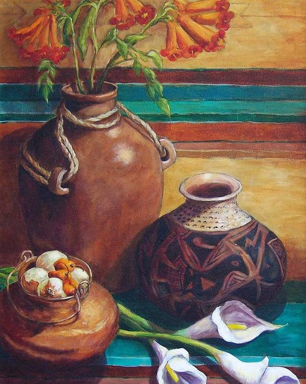 Still Life Poster featuring the painting Summer Still Life by Candy Mayer