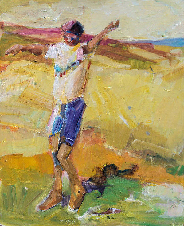 Diptych Poster featuring the painting Summer Sun Dance  by Diane Ursin