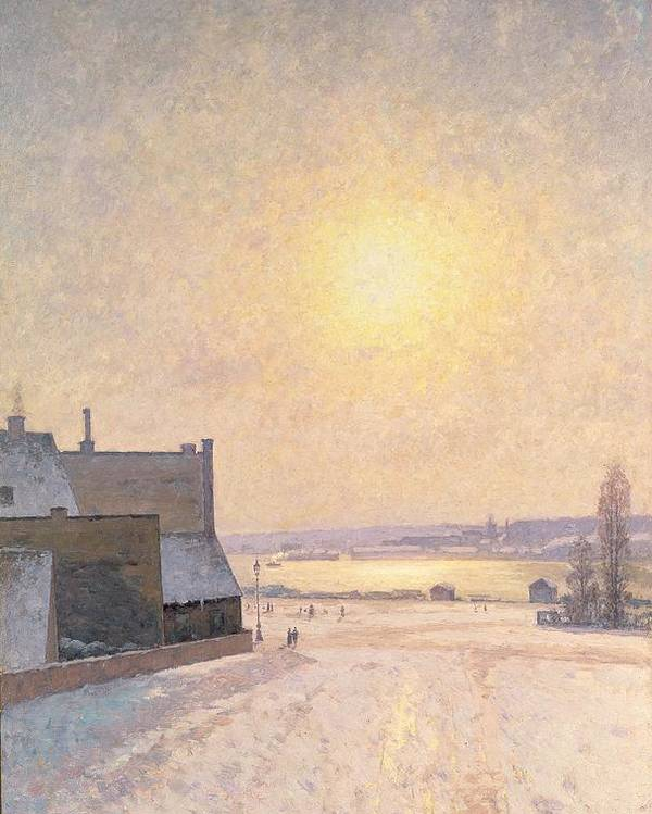 Sun Poster featuring the painting Sun And Snow by Per Ekstrom