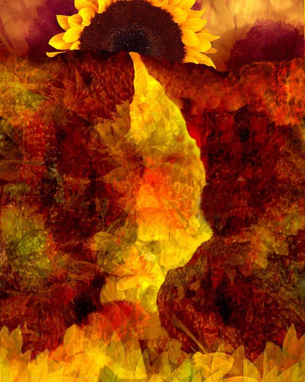 Sunflower Poster featuring the digital art Sundown by Tom Romeo