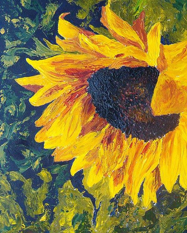 Poster featuring the painting Sunflower by Tami Booher