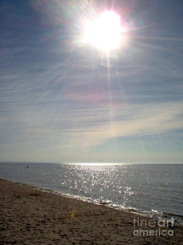 Sunshine Poster featuring the photograph Sunny Beach by Deborah Selib-Haig DMacq