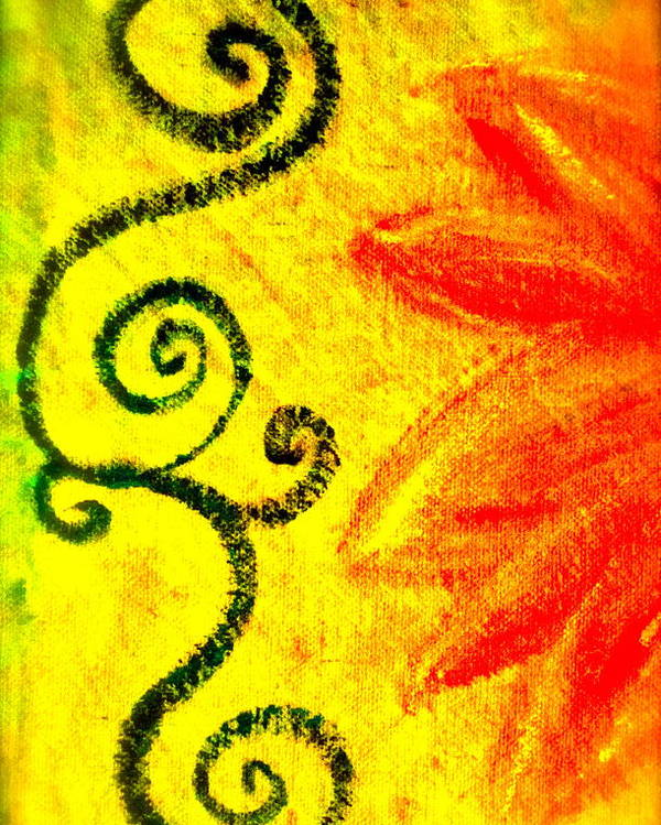 Painting Of Red Flower Poster featuring the mixed media Sunny Day Red by Gwyn Newcombe