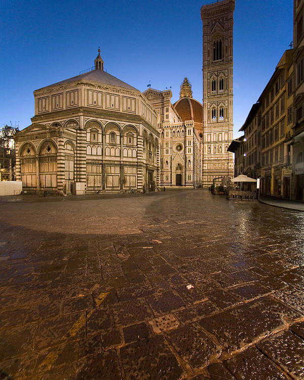 Italy Poster featuring the photograph Sunrise In Florence 2 by Luigi Barbano BARBANO LLC