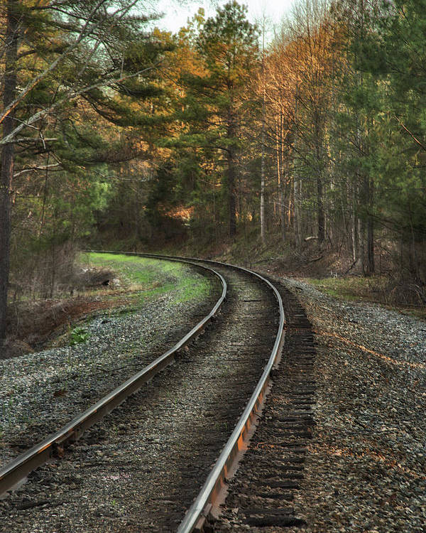 Sunrise Poster featuring the photograph Sunrise On The Rails by Cliff Middlebrook