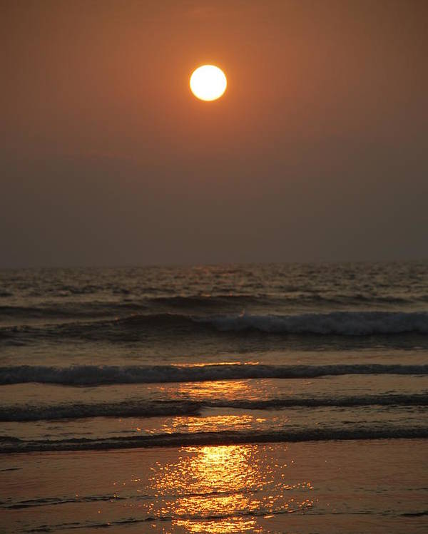 Sunset Poster featuring the photograph Sunset In Goa-2 by Reshmi Shankar