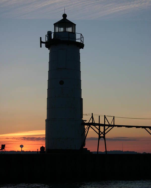 Light House Poster featuring the photograph Sunset Light House by Kevin Dunham