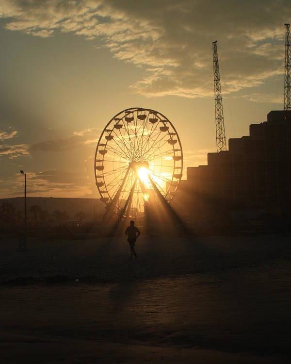 Daytona Poster featuring the photograph Sunset On Daytona Beach by Mandy Shupp