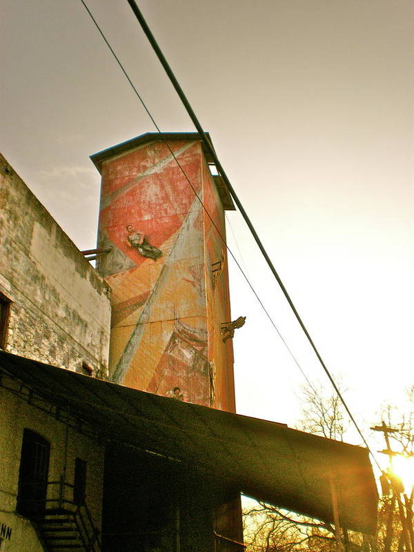 Feed Mill Cafe Poster featuring the photograph Sunset On The Mill by Sheep McTavish