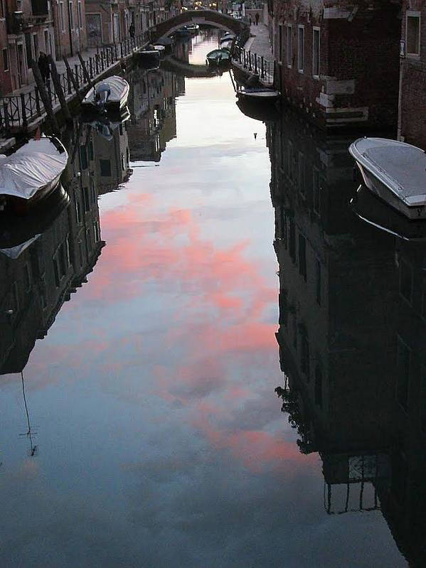 Venice Poster featuring the photograph Sunset Reflections In Venice by Erla Zwingle
