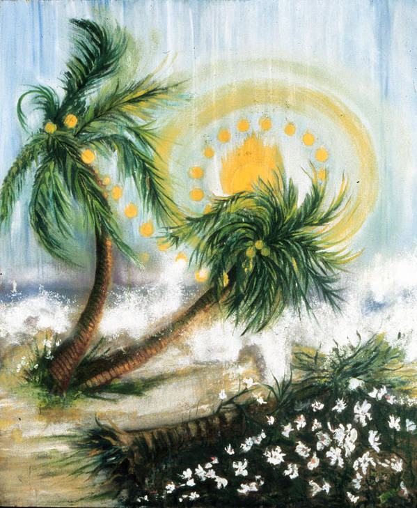 Sunshower  Poster featuring the painting Sunshower  by Ione Citrin