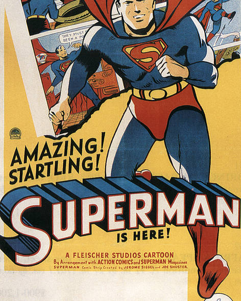 1940s Movies Poster featuring the photograph Superman, 1941 by Everett