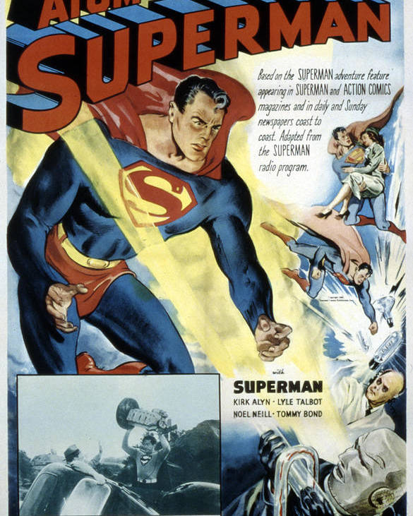 1940s Movies Poster featuring the photograph Superman, Serial, Kirk Alyn, Chapter 6 by Everett
