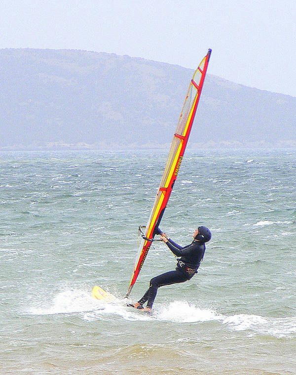 Surfer Poster featuring the photograph Surfer On Mar Menor by Jacqueline Essex