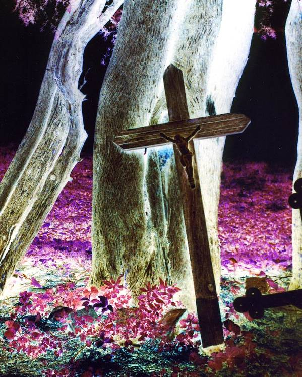 Cross Poster featuring the photograph Surreal Crucifixion by Karin Kohlmeier