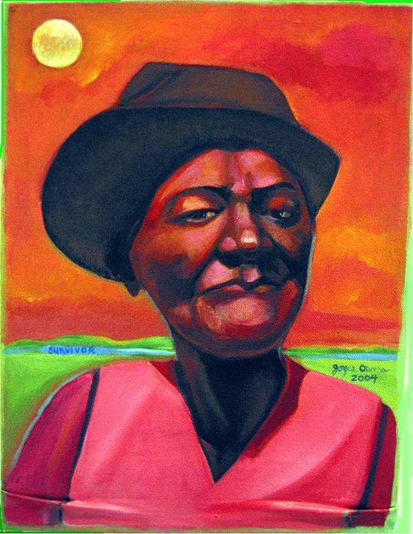 African Poster featuring the painting Survivor Spirit Mollie by Joyce Owens