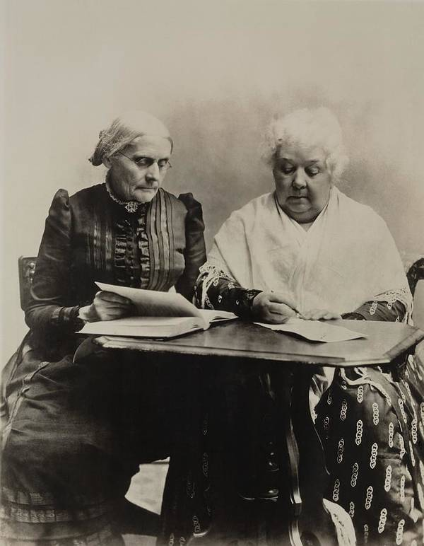 History Poster featuring the photograph Susan B. Anthony And Elizabeth Cady by Everett