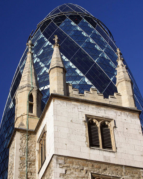 Gherkin Poster featuring the photograph Swamped by Jez C Self