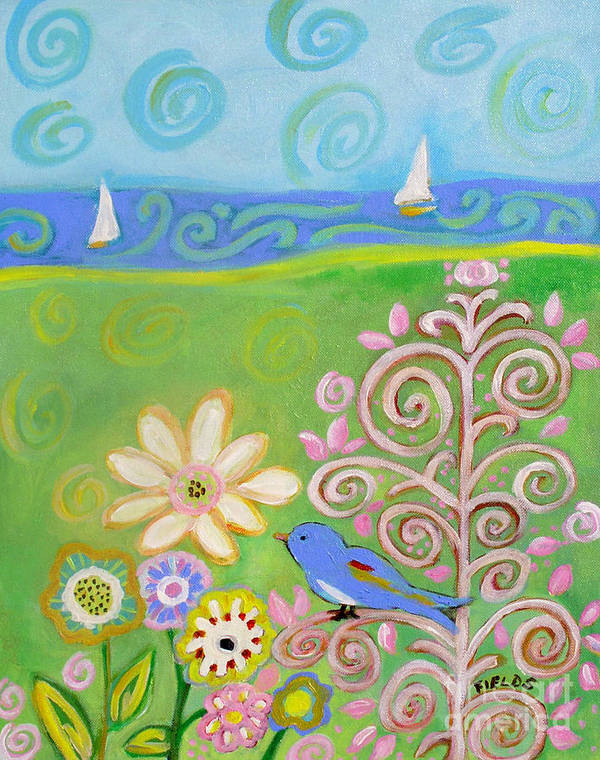 Sailboat Poster featuring the painting Sweet Summer by Karen Fields