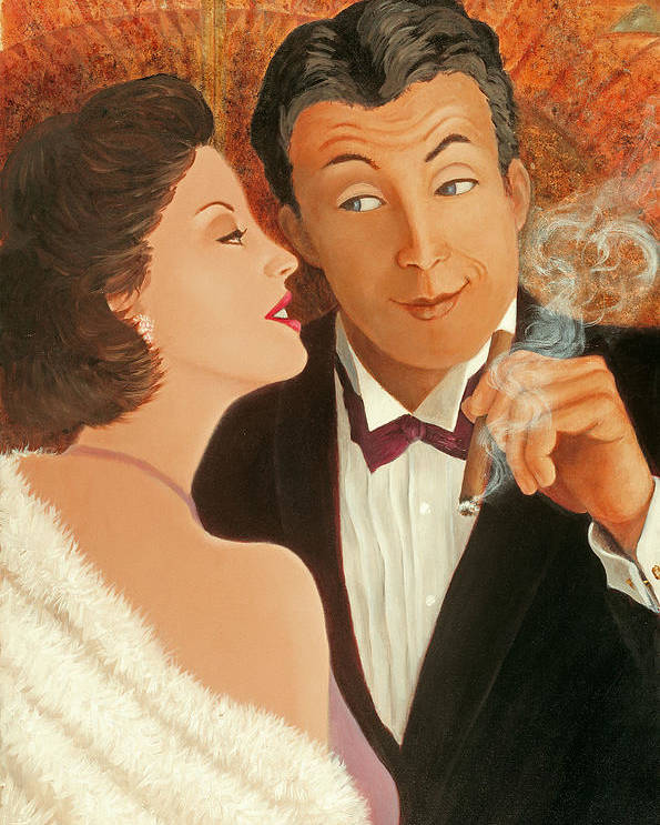 Art Deco Poster featuring the painting Sweet Talk by Susan Rinehart