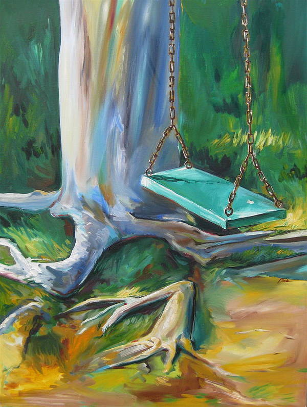 Swing Poster featuring the painting Swing by Karen Doyle
