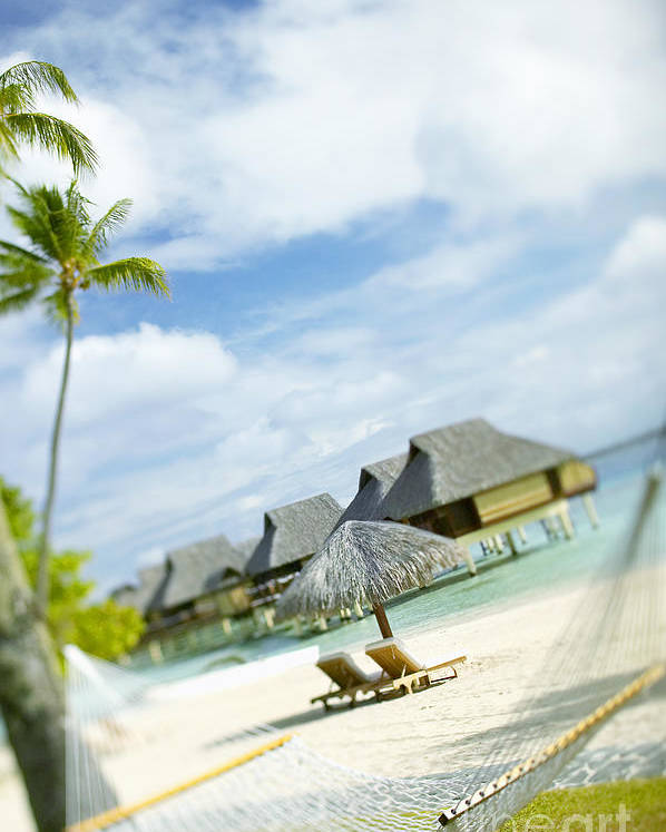 10-pfs0158 Poster featuring the photograph Tahiti, Bora Bora by Kyle Rothenborg - Printscapes