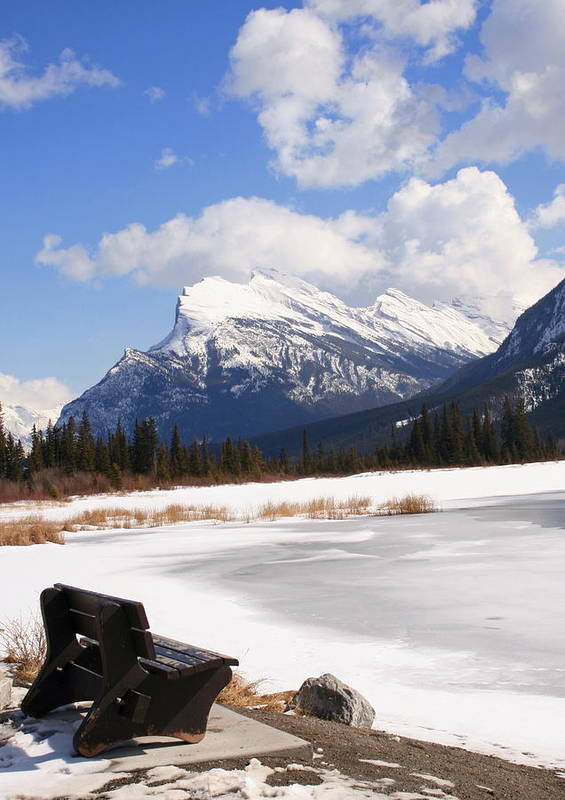Vermillion Lake Poster featuring the photograph Take A Seat At Vermillion Lake by Tiffany Vest