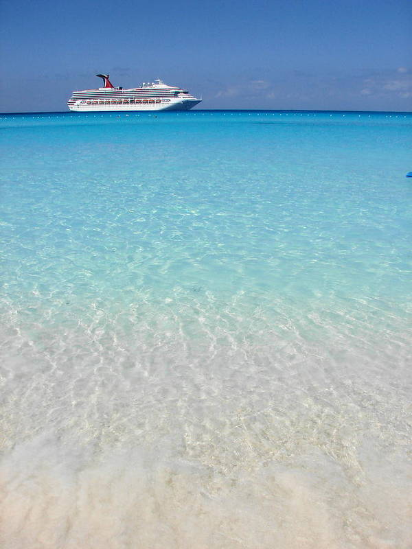 Caribbean Cruise Poster featuring the photograph Take Me Back To Half Moon Cay by Margaret Bobb
