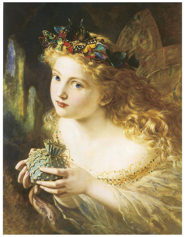 Sophie Anderson Poster featuring the painting Take The Fair Face Of Woman by Sophie Anderson