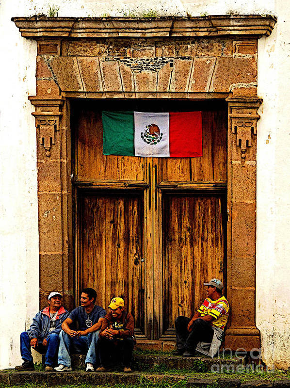 Patzcuaro Poster featuring the photograph Taking A Break by Mexicolors Art Photography