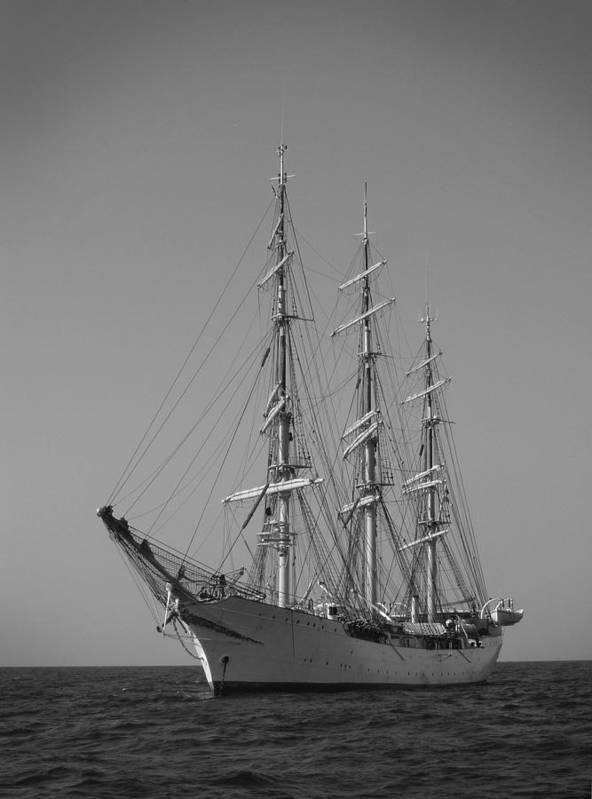 Tall Ship Sailboat Sailing Denmark Anchor Charleston South Carolina Dustin Ryan Schooner Bark Poster featuring the photograph Tall Ship Denmark by Dustin K Ryan