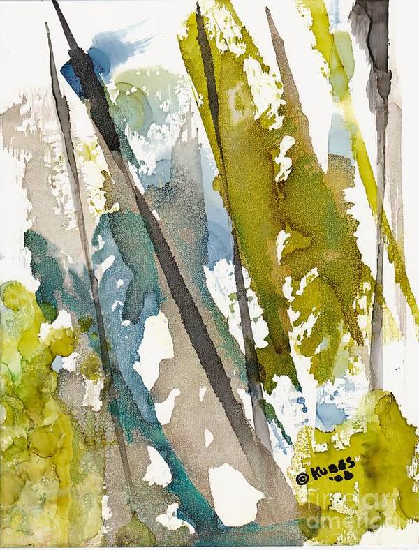 Forest Poster featuring the painting Tall Timber by Susan Kubes