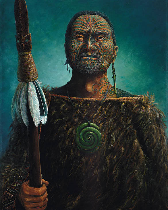 Maori Poster featuring the painting Tamaki by Peter Jean Caley