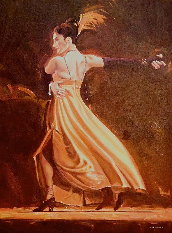 Dance Poster featuring the painting Tango 2 by Charles Willmott