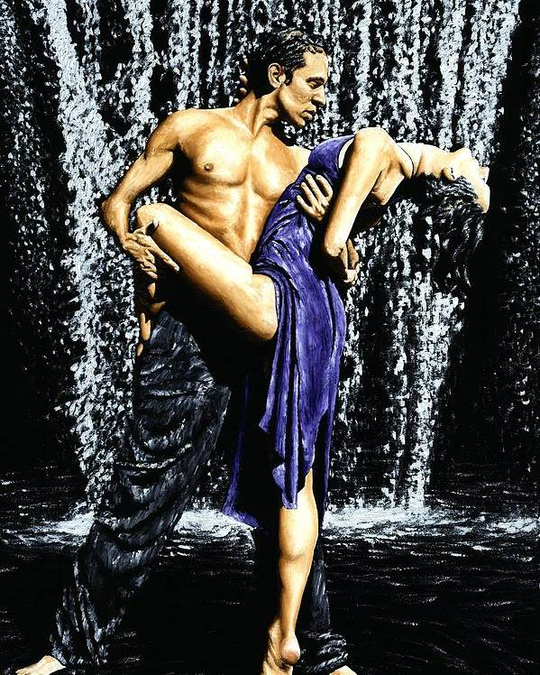 Tango Poster featuring the painting Tango Cascade by Richard Young