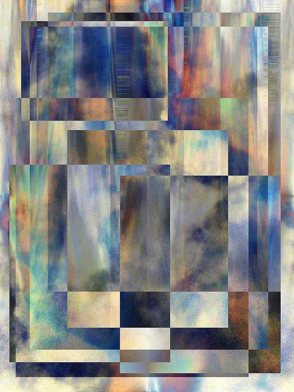 Abstract Poster featuring the digital art Tango In The Sky by Tim Allen