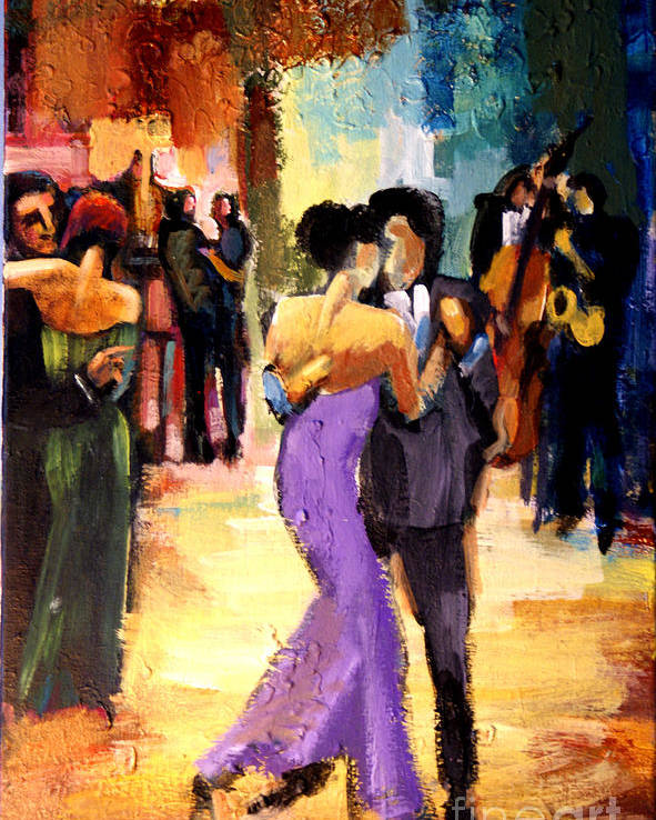 Artwork Poster featuring the painting Tango by Maya Green