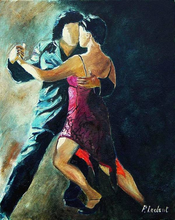 Tango Poster featuring the painting Tango by Pol Ledent